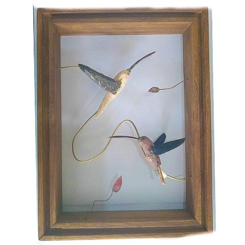 DCD001 cuadro colibirs hecho a mano