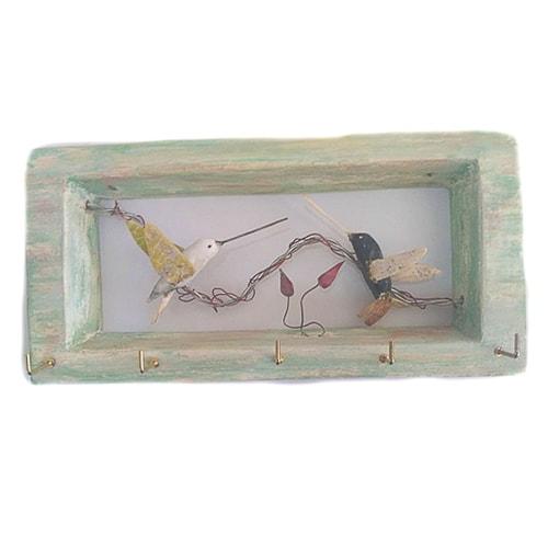 DPL001 portallavero colibirs hecho a mano