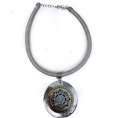 JCL004 collar con mandala hecho a mano