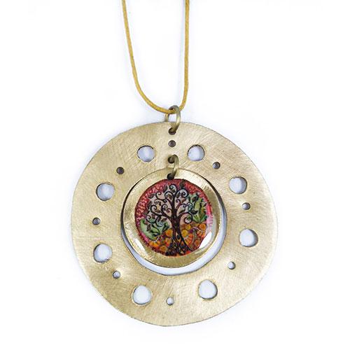 collar mandala joyería artesanal hecha a mano